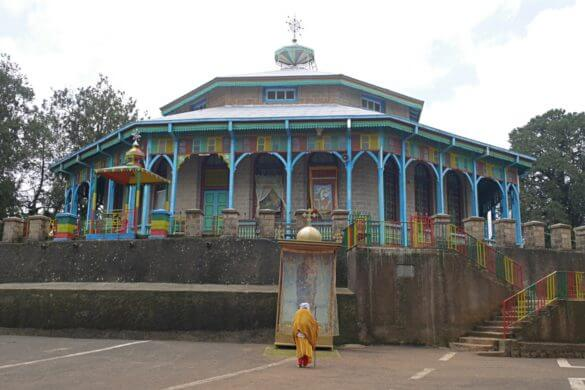 O que fazer em Adis Abeba: igreja ortodoxa redonda na etiopia