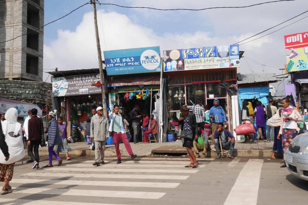 Shola Market em Adis Abeba
