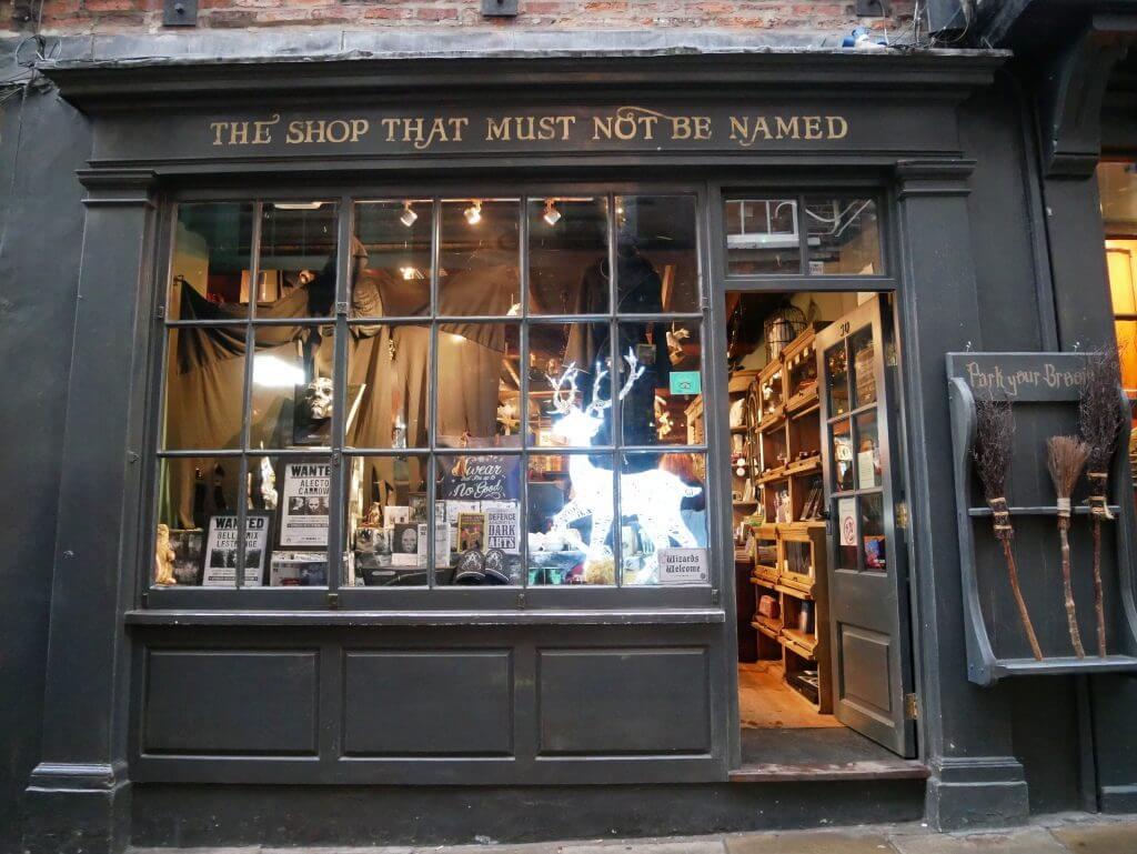 York Inglaterra Shambles Harry Potter lojas