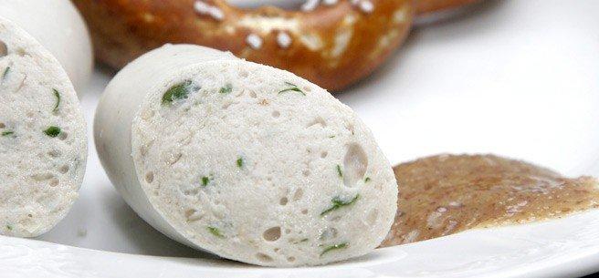comida alema weisswurst