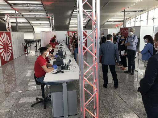 Lufthansa teste para covid