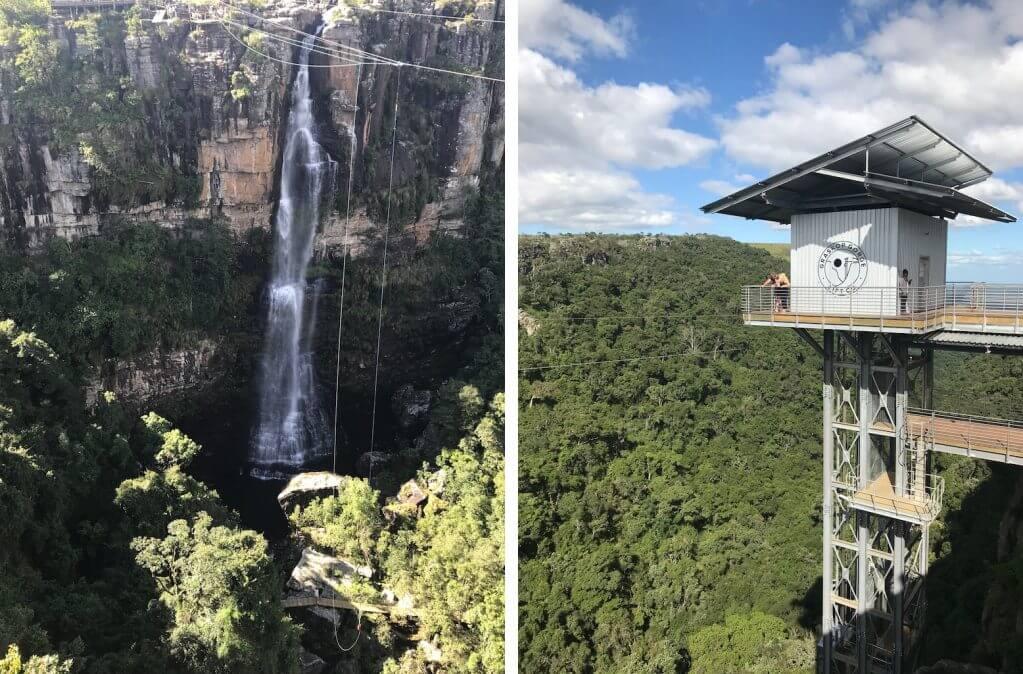 Rota Panoramica elevador bungee jump