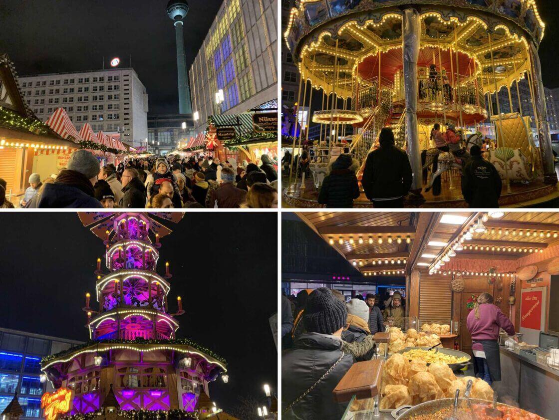 Mercados de Natal na Alemanha Berlim Alexanderplatz