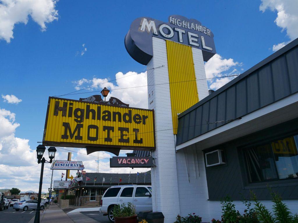 Motel em Williams, na Rota 66