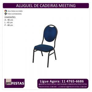 Aluguel de Cadeiras Meeting