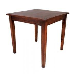 aluguel de mesa de madeira maciça quadrada - mesa boteco