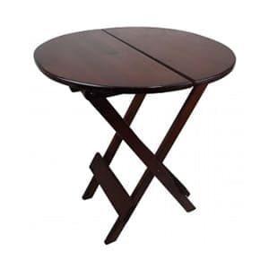 aluguel de mesa dobravel redonda madeira