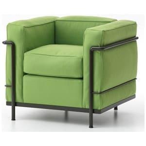 aluguel de poltrona lc1 verde - poltrona le corbusier verde