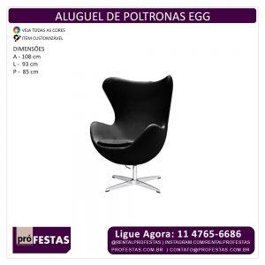 Aluguel de Poltrona Egg Preta