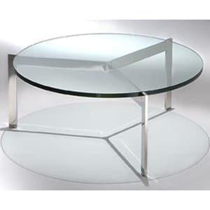 aluguel mesa de centro PK redonda em vidro