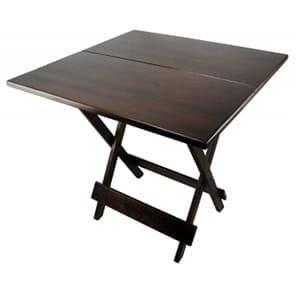 aluguel-mesa-madeira-dobravel quadrada 0,70 x 0,70