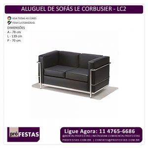 Aluguel de Sofa LC2 - Le Corbusier