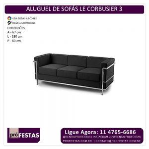 Aluguel de Sofa LC3 - Le Corbusier
