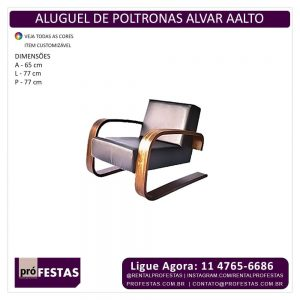 Aluguel de Poltrona Alvar Aalto