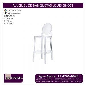 Aluguel de Banquetas Louis Ghost