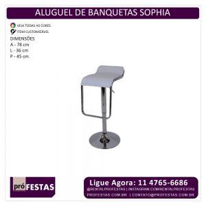 Aluguel de Banquetas Sophia