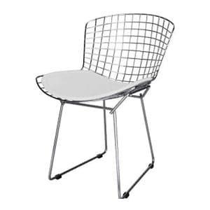 aluguel cadeira bertoia cromada branca