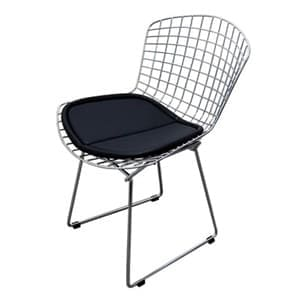aluguel cadeira bertoia cromada preta