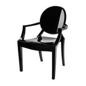 aluguel cadeira louis ghost black piano