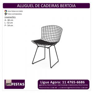 Aluguel de Cadeiras Bertoia Preta