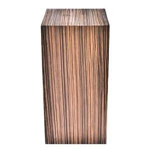 aluguel de cubo em madeira Ébano Macassar