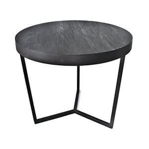 aluguel de mesa Mesa redonda de entrada ebanizada