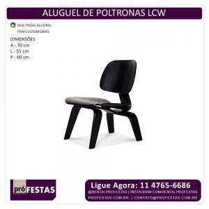 Aluguel de Poltrona LCW Madeira Ebanizada