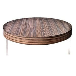 aluguel mesa de centro PK madeira Ébano Macassar