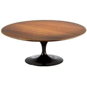 aluguel mesa de centro Saarinen Oval em Imbuia