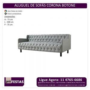 Aluguel de Sofás Corona Botone