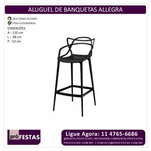 Aluguel de Banquetas Allegra