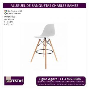 Locação de Banquetas Charles Eames