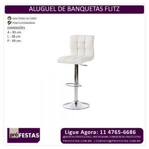 Aluguel de Banquetas Flitz