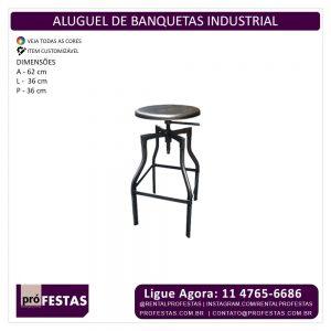 Aluguel de Banquetas Industrial