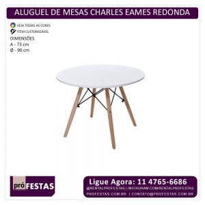 Aluguel de Mesas Charles Eames
