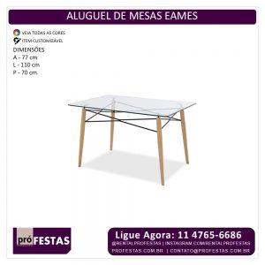 Aluguel de Mesas Eames Retangular