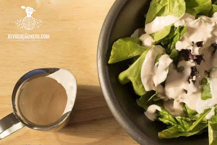 molho de salada cetogênica