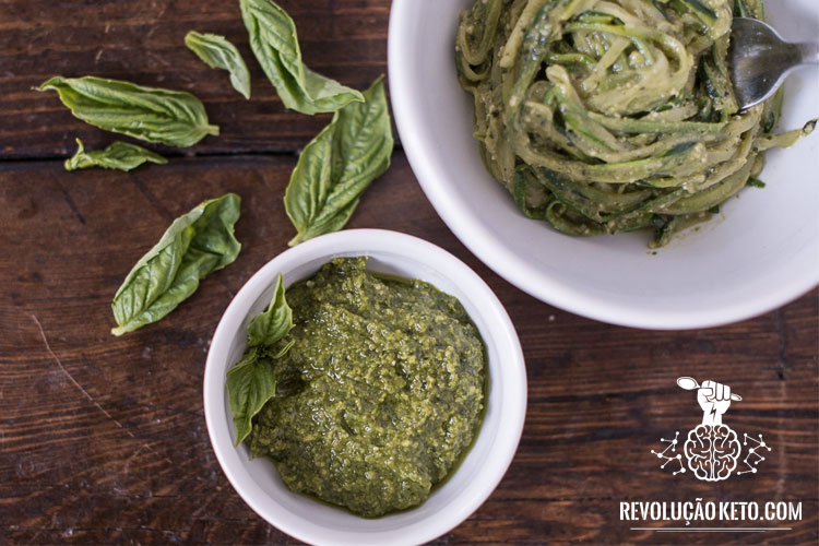 molho receita cetogenica vegetariana pesto video