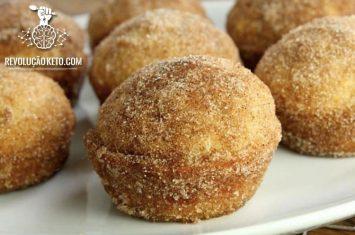 receita sonho de padaria cetogênico donut keto low carb video bolinho bolo lanche sobremesa
