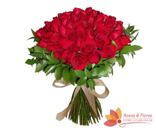 Buquê 100 Rosas Vermelhas Floricultura Rosas e Flores RJ