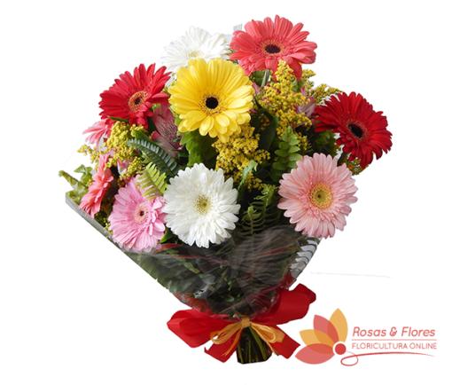Buquê de Gérberas Mistas Floricultura Rosas e Flores RJ