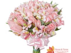 Buquê de Rosas e Astromélias Floricultura Rosas e Flores RJ