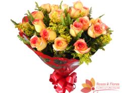 Buquê de Rosas Laranjas Floricultura Rosas e Flores RJ