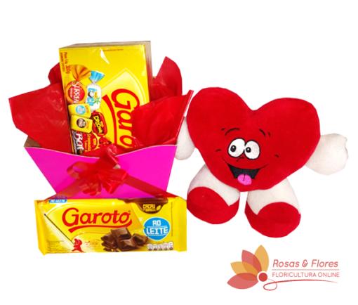 Cachepot Chocolate e pelúcia Floricultura Rosas e Flores RJ