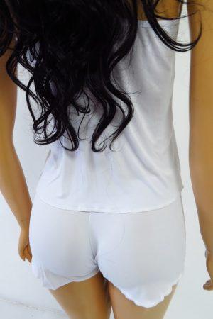 Pijama Babydoll ROSEVIE de liganete – branco
