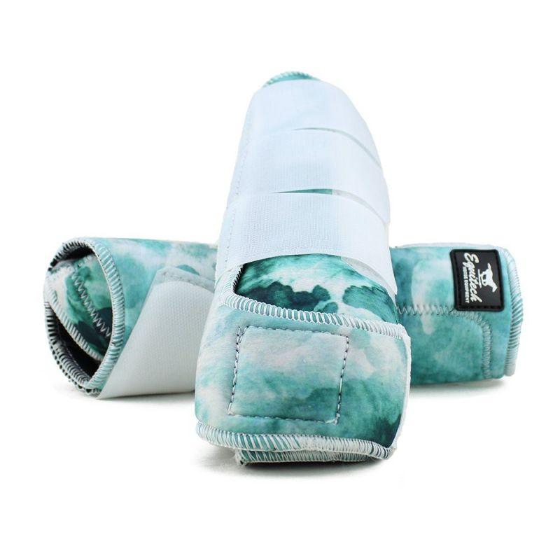 Caneleira Equitech Tye Dye Cor:Verde Água 1