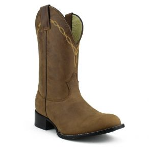 Bota Mr West B-46 Roper Ouro CM Mad Dog Tabaco M.W 193