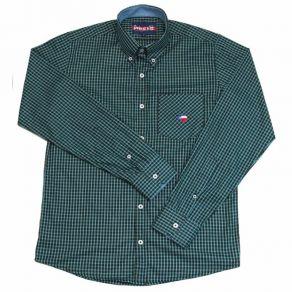 Camisa Infantil Manga Longa Mr West Preto/Verde Ref. MW-06