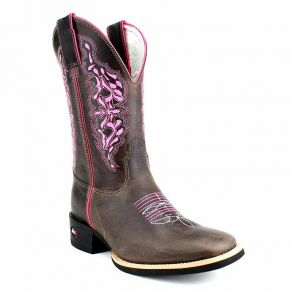 Bota Mr West B-46C 2607 Pink 1474 Crazy Café CM Café - Flex M.W 135