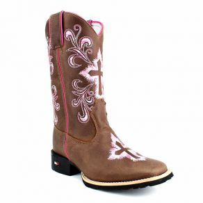 Bota Mr West B-36 0123 PINK Fossil Tabaco C.M Fossil Tabaco M.W 148